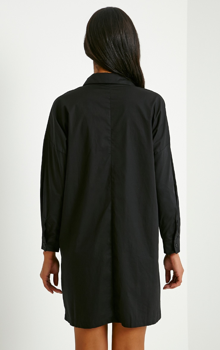 Carson Black Shirt Dress 2