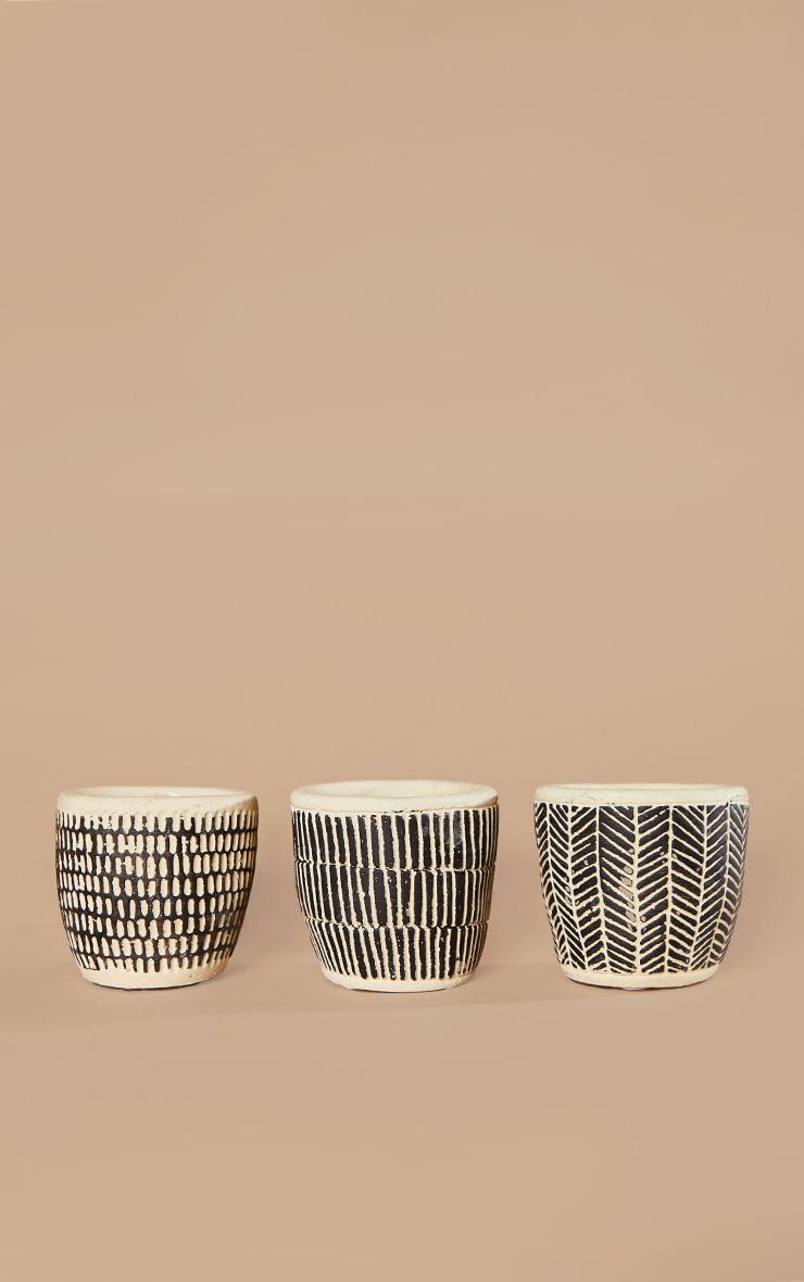 Scandi Boho Mini Cement Planters - Set of 3 3