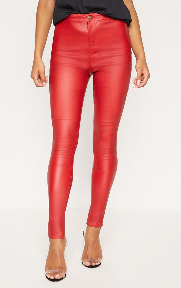 Red Coated Skinny Jean  2