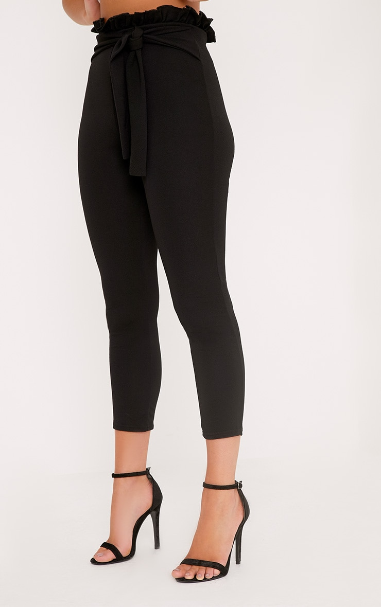 Perlita Black Paperbag Skinny Pants 5