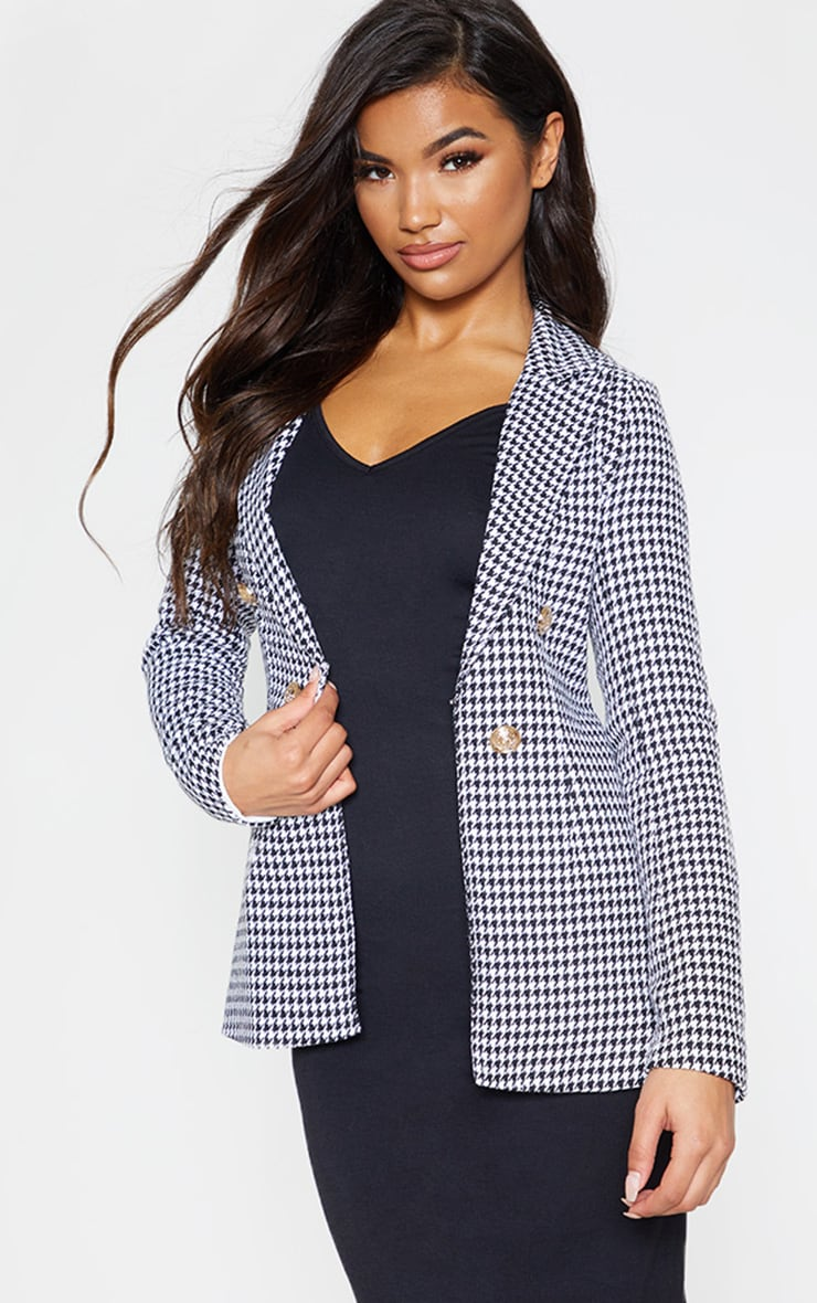 Black Houndstooth Blazer 2