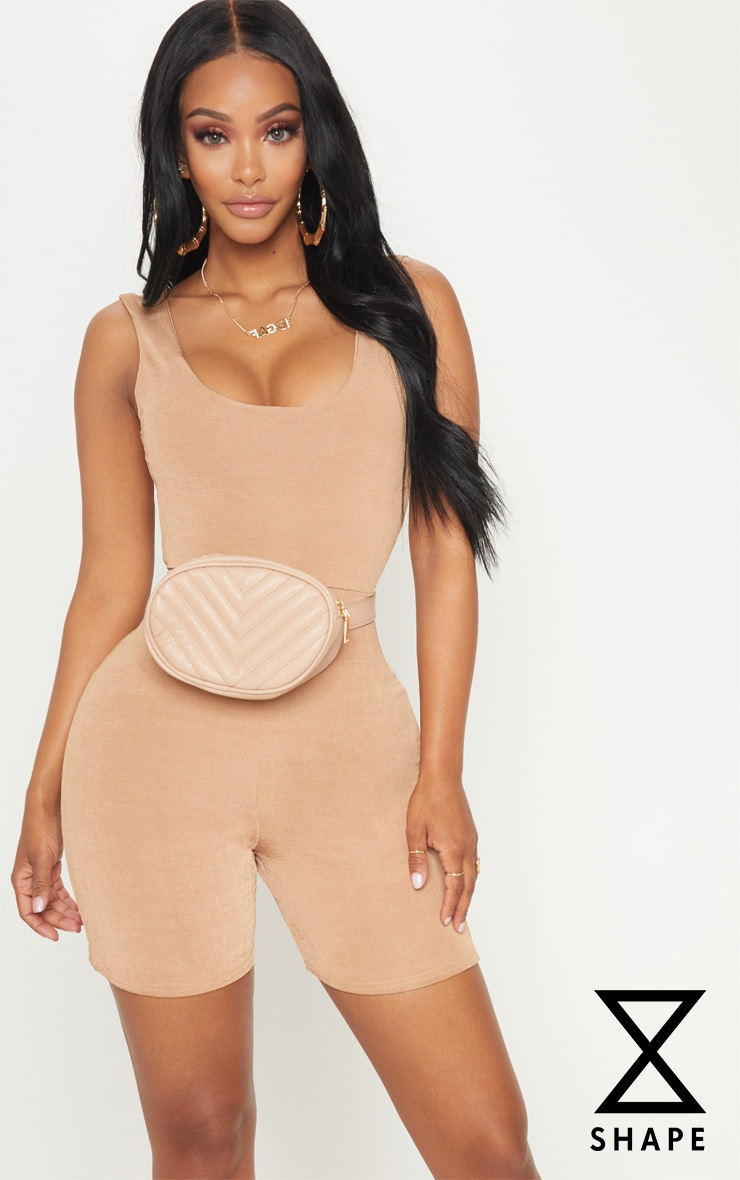 Shape Camel Slinky Scoop Neck Unitard