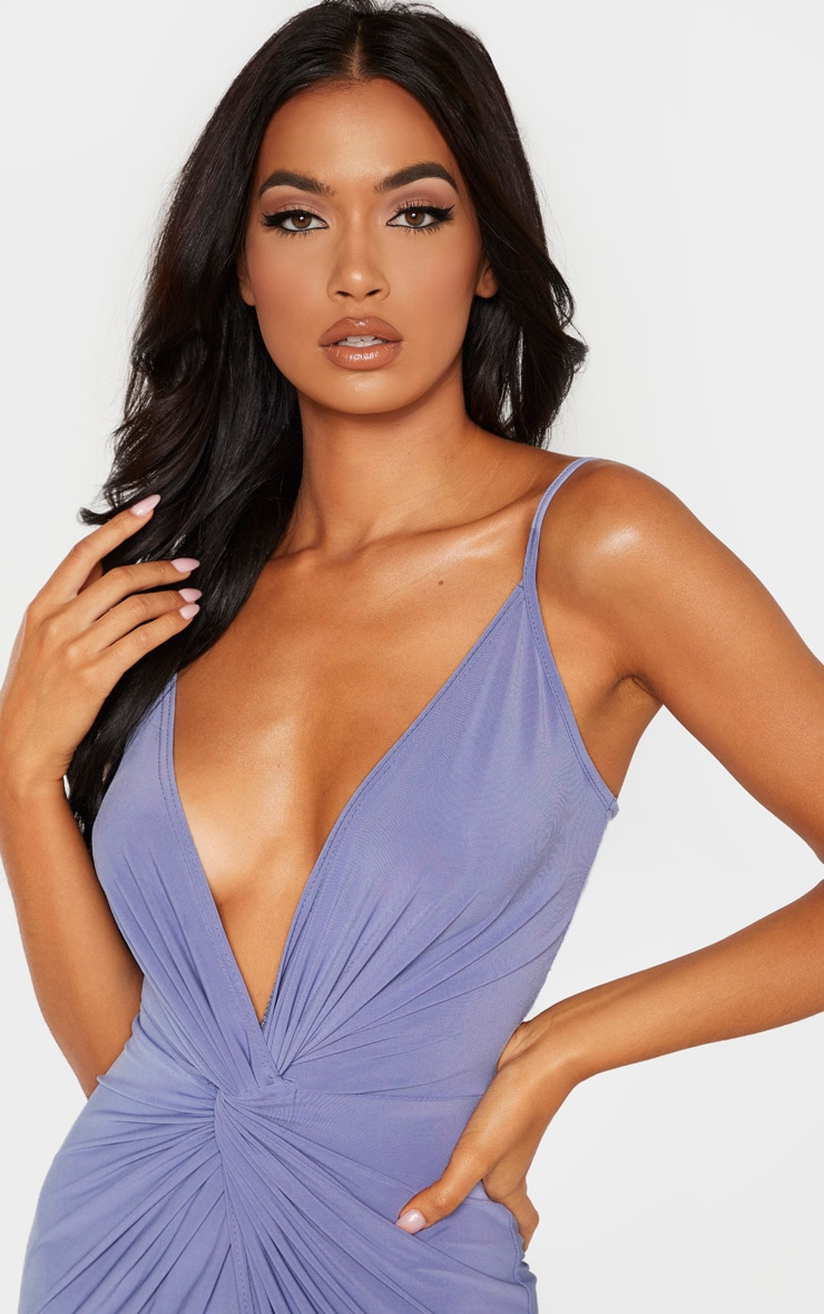Blue Knot Front Strappy Maxi Dress 4