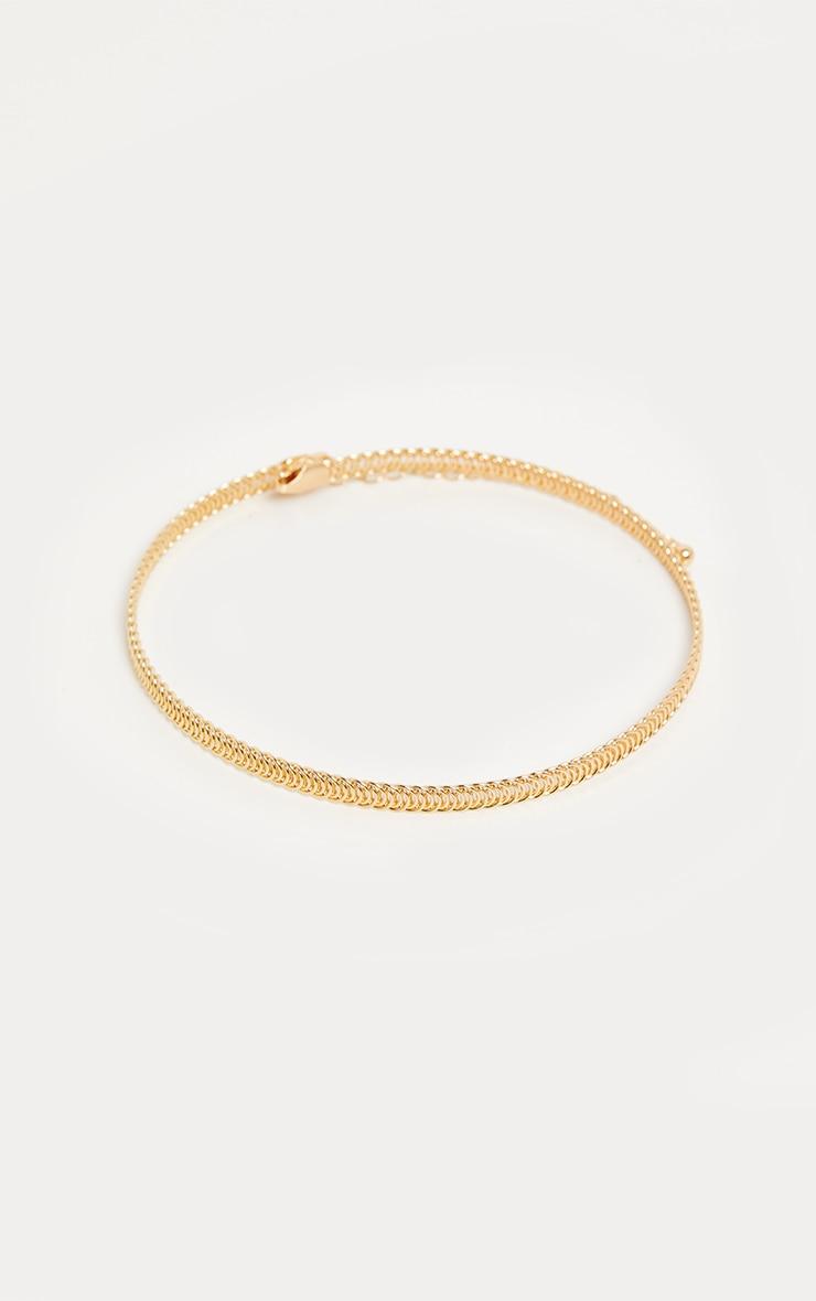 Gold Rope Chain Choker 3