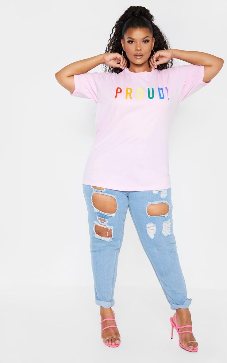 Plus Pink PROUD Oversized T-shirt 1