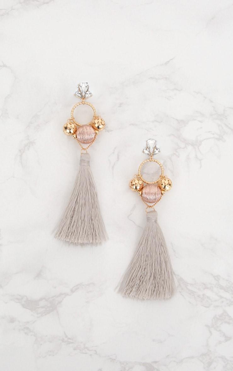 Rose Gold Tassel Drop Earrings 3