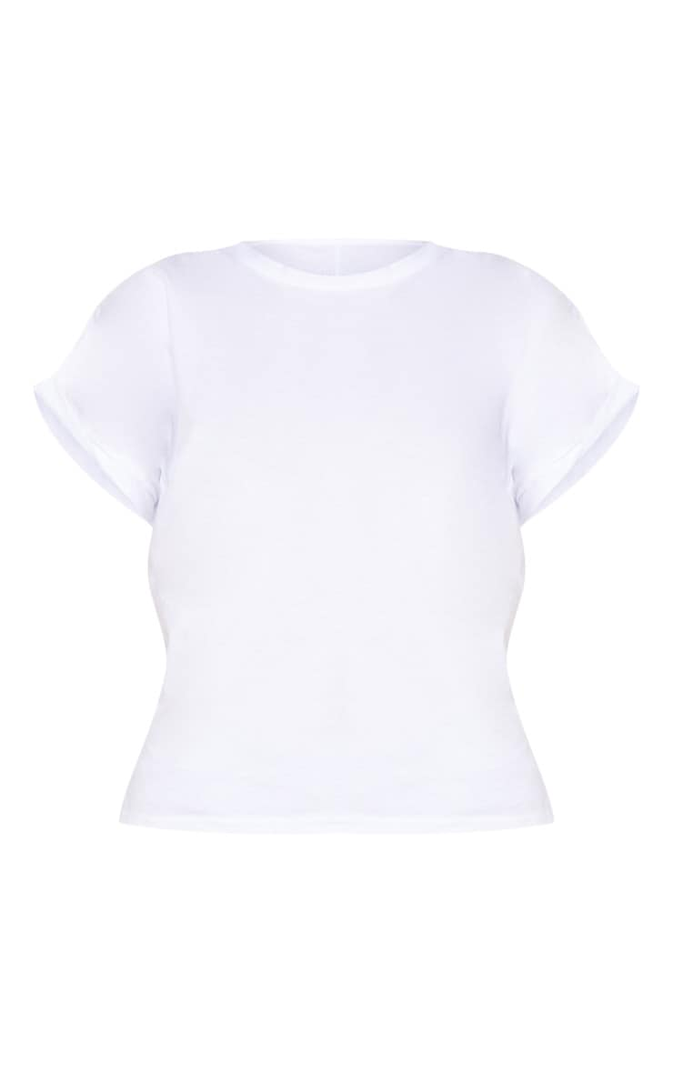 White Basic Low Arm T Shirt 3