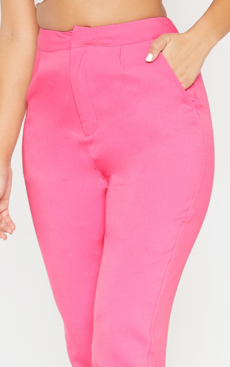 Bubblegum Pink Cropped Trouser  6