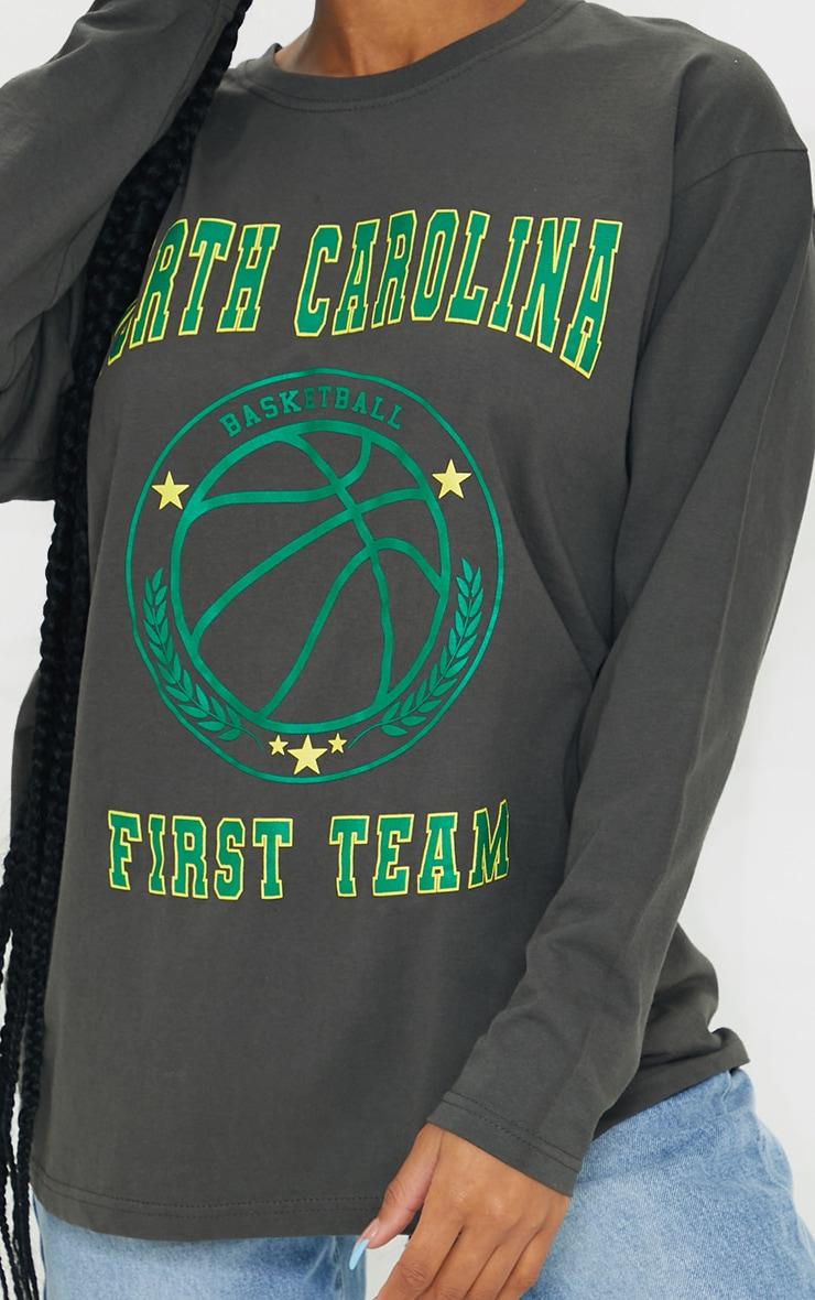 Grey North Carolina First Team Print Long Sleeve T Shirt 4