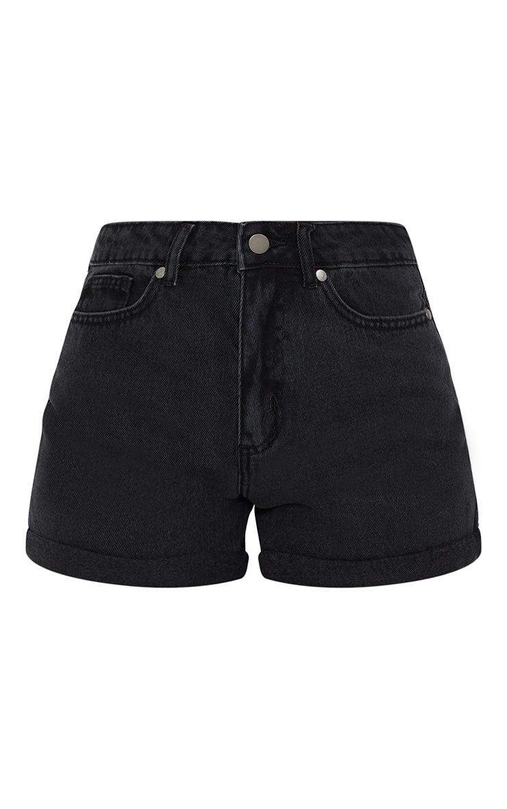Washed Black Mom Short 6