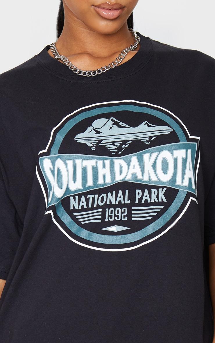 Black South Dakota Printed T Shirt 4