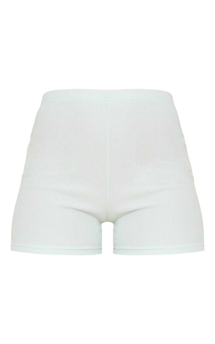 Ice Grey Power Stretch Rib Hotpants 6