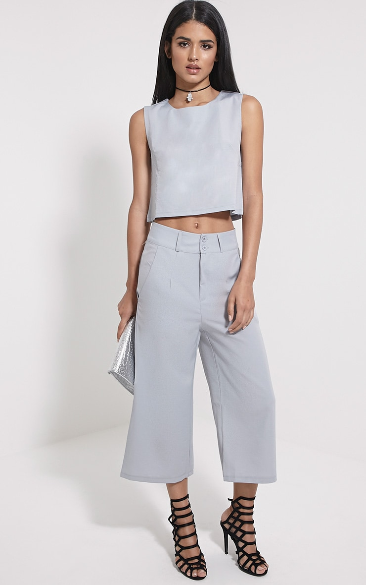 Harlow Grey Boxy Crop Top 3