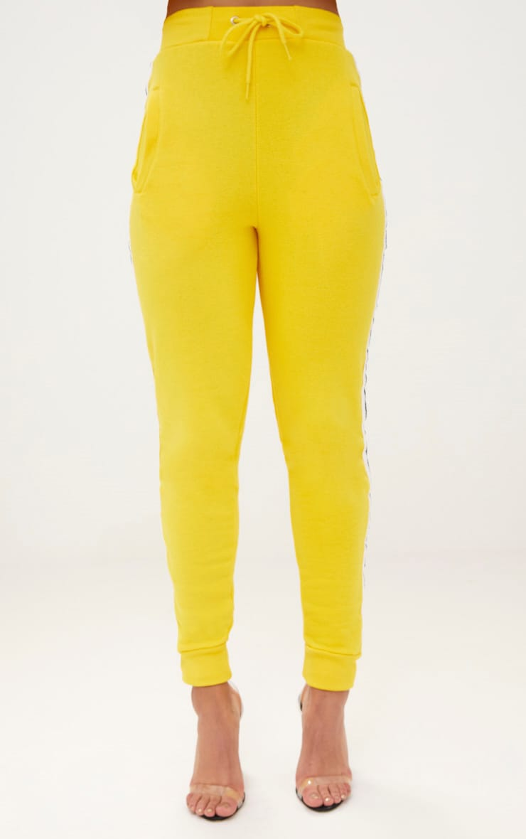 Yellow Side Stripe Joggers 2