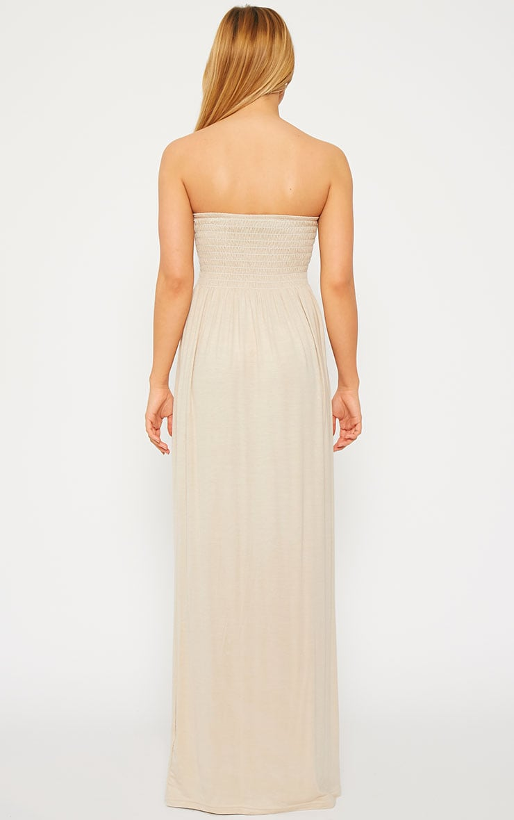 Tamara Stone Elasticated Bandeau Jersey Maxi Dress 2