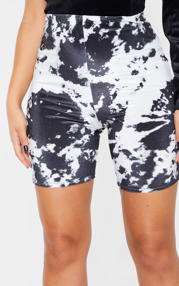 Black Velvet Tie Dye Bike Shorts 6