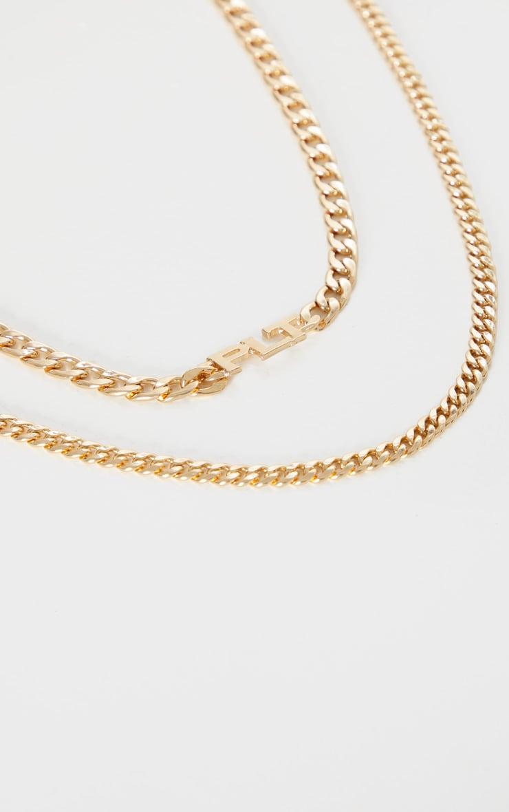 PRETTYLITTLETHING Gold Multi Layering Necklace 4