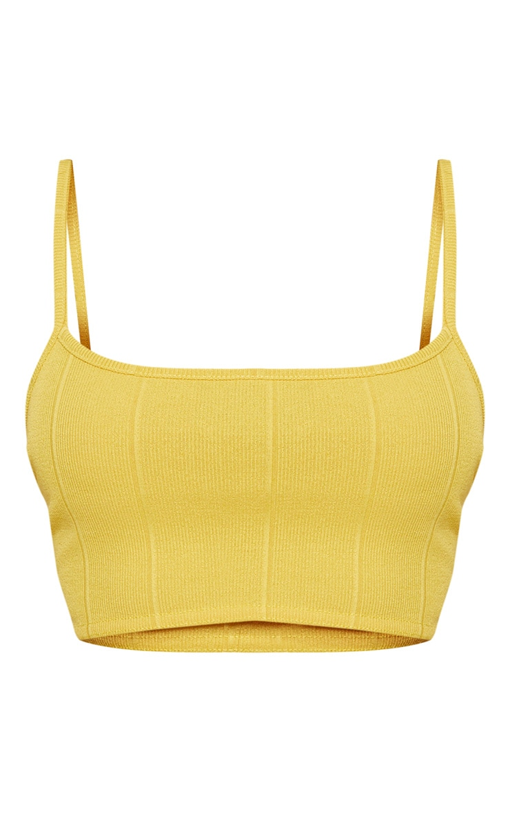 Shape Chartreuse Bandage Crop Top 3