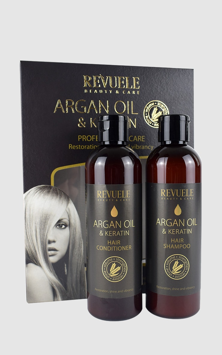 Argan Oil & Keratin Shampoo and Conditioner Gift Set 1