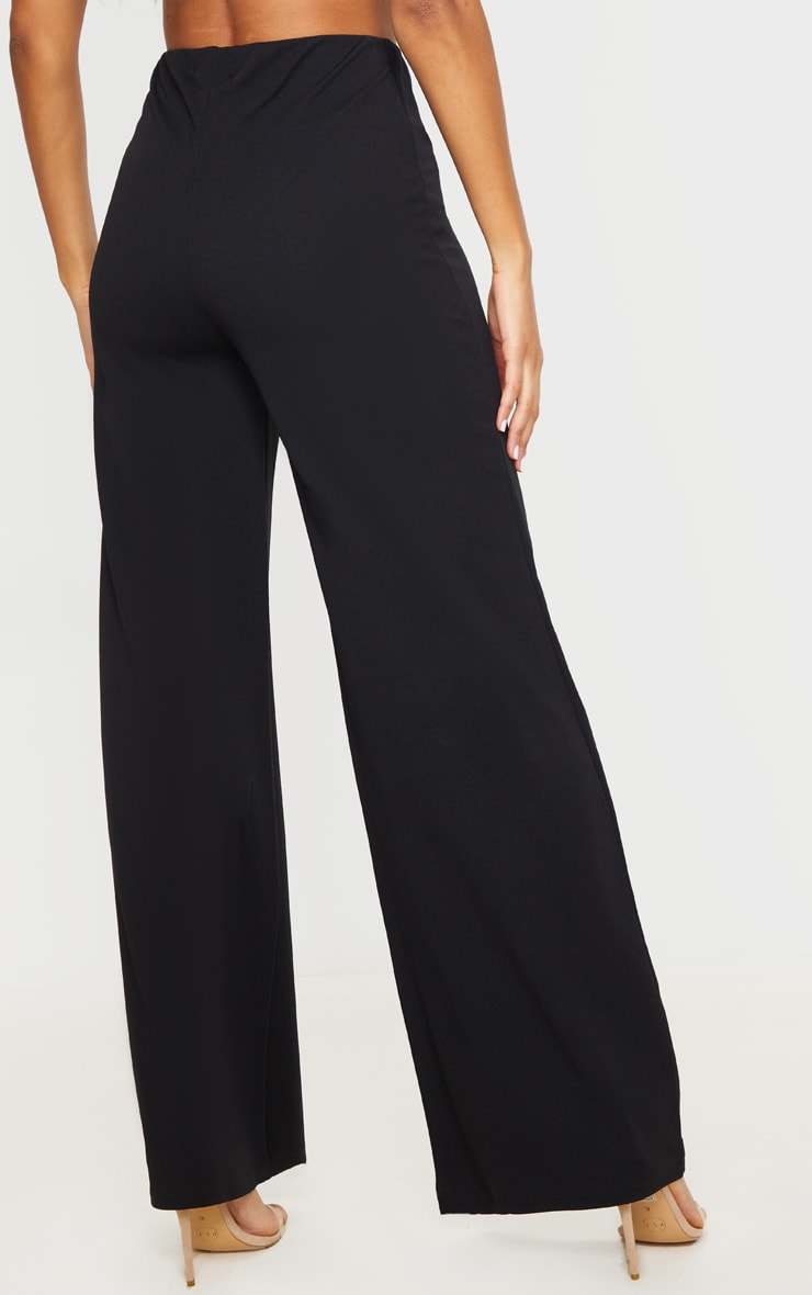 Black High Waisted Wide Leg Trousers 3