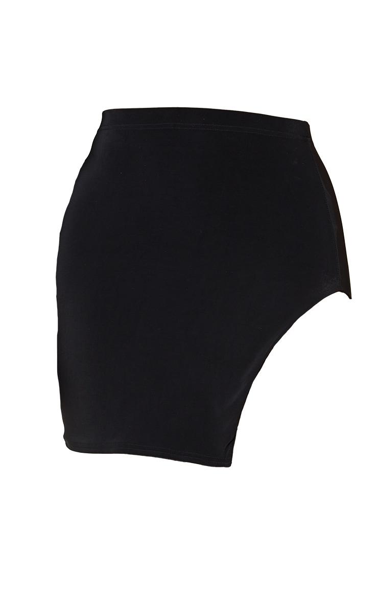 Shape Black Slinky Split Side Bodycon Skirt 6