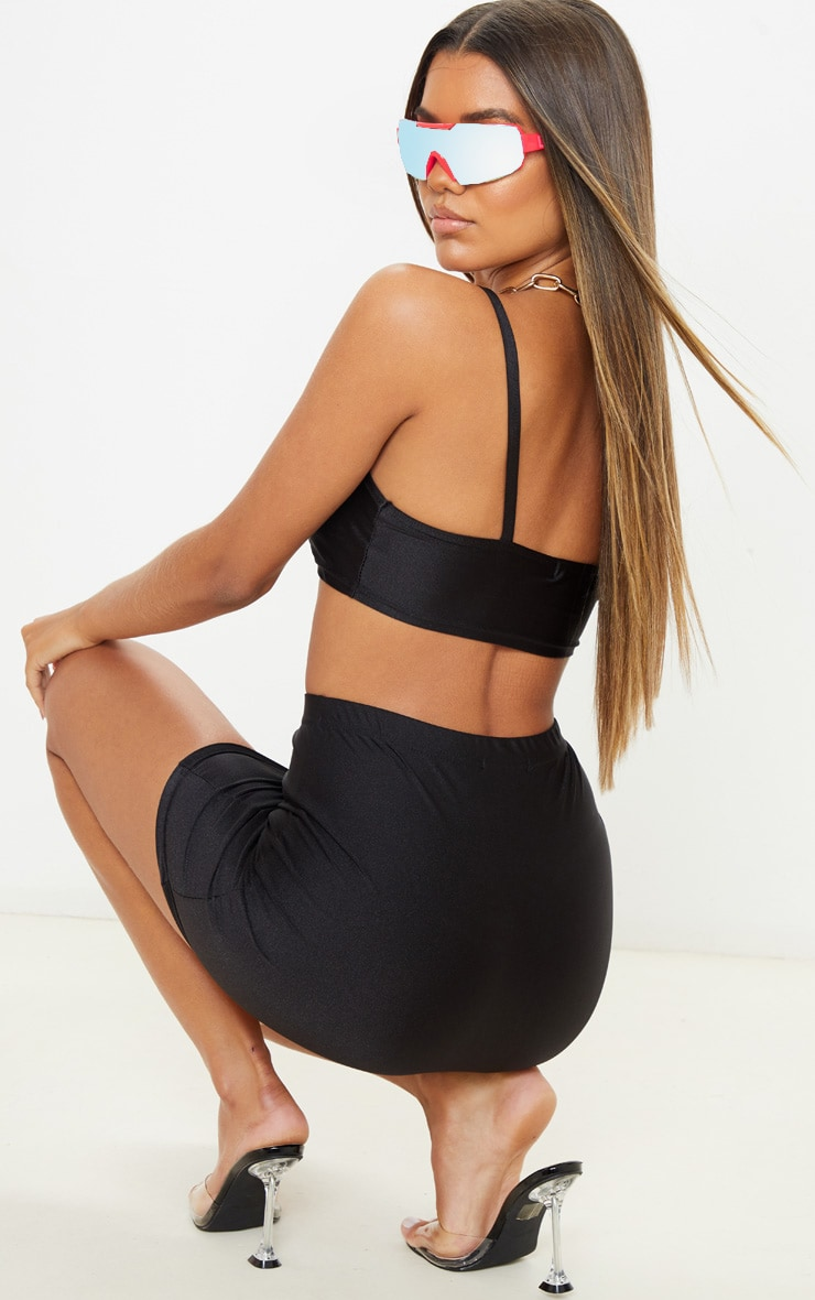 Black Disco Strappy Cami Top 2