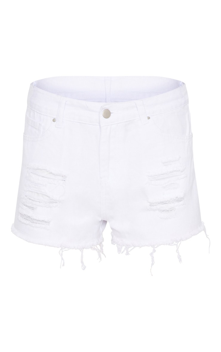 Elana White Ripped Denim Hotpants 3