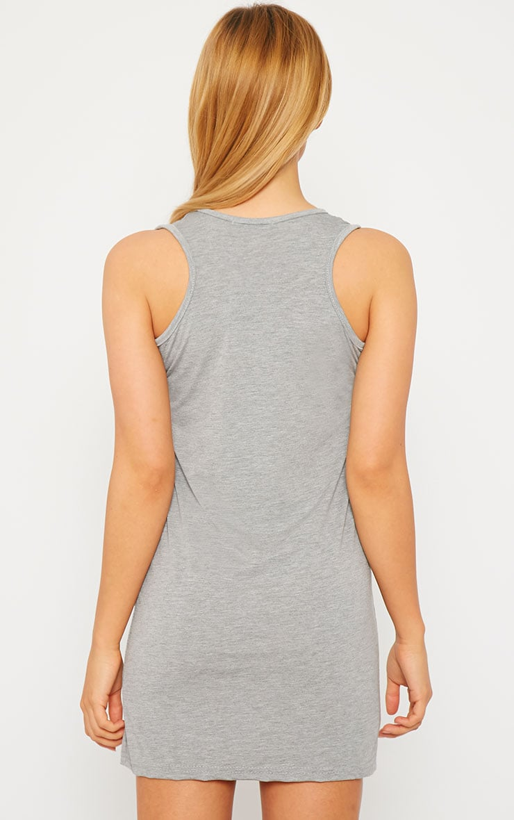Basic Grey Jersey Mini Dress 2