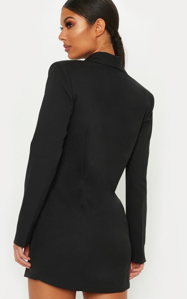 Robe blazer noire à boutons dorés 2