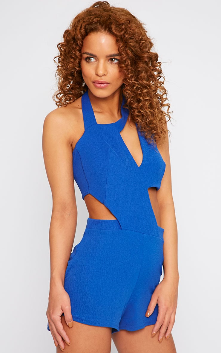 Alessandra Cobalt Cut Out Playsuit  3