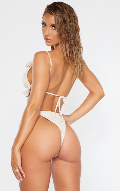 Nude Frill Bandeau Bikini Top