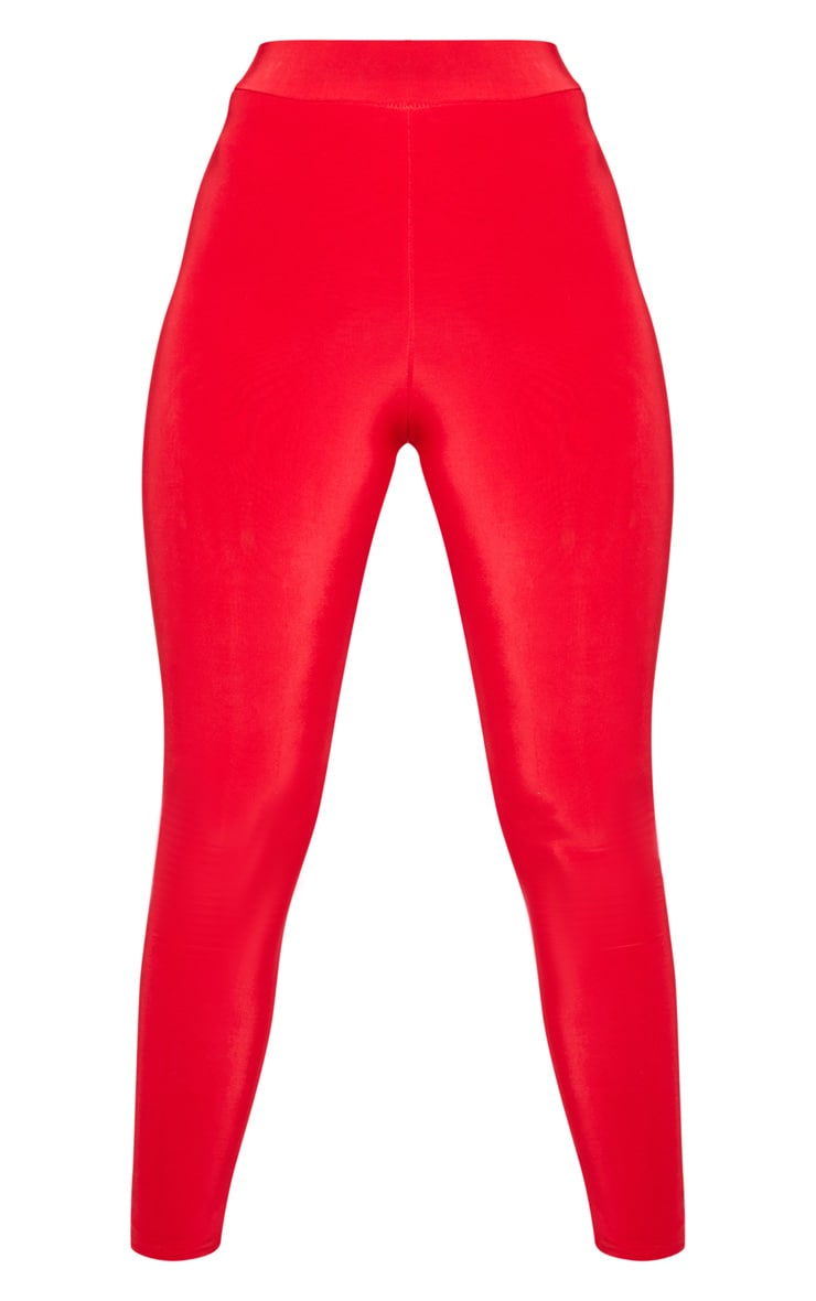 Deep Red Ruched Bum Detail Legging 3