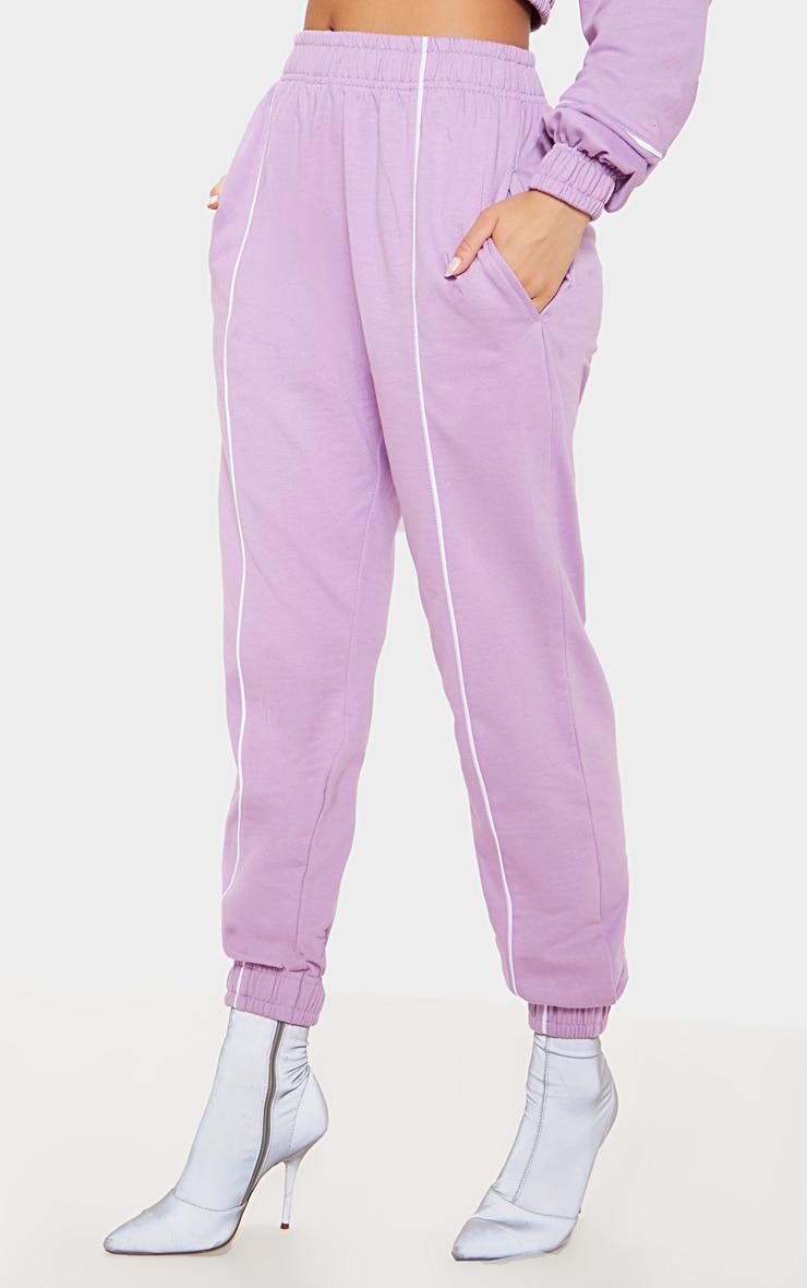 Lilac Contrast Binding Sweat Jogger 2