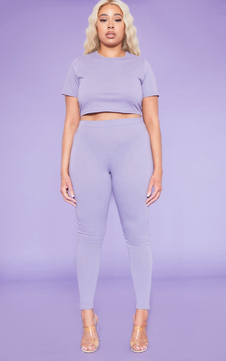 RECYCLED Plus Violet Crop T Shirt 4