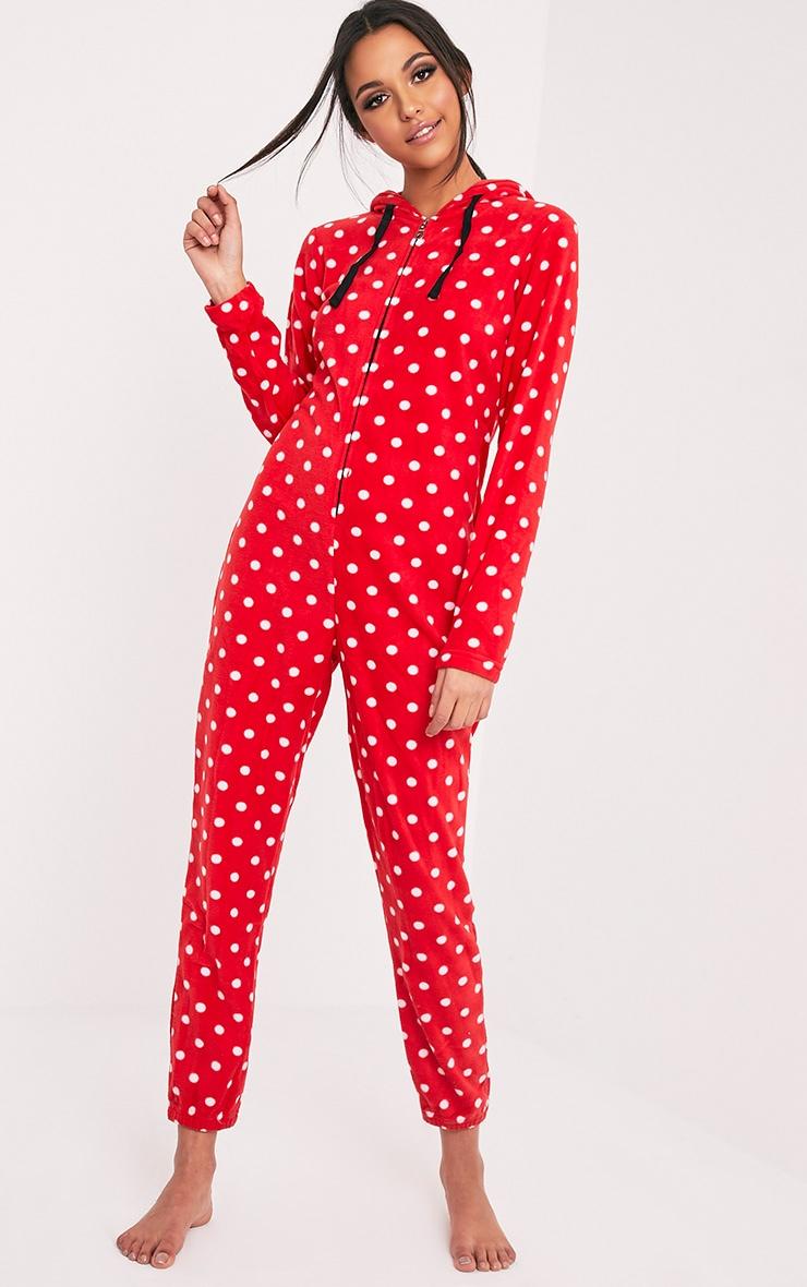 Red Polka Dot Onesie 1
