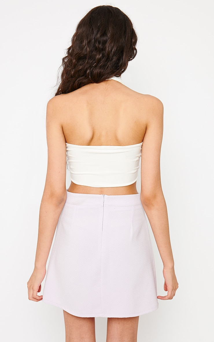 Eloise Cream Halterneck Crop Top 2