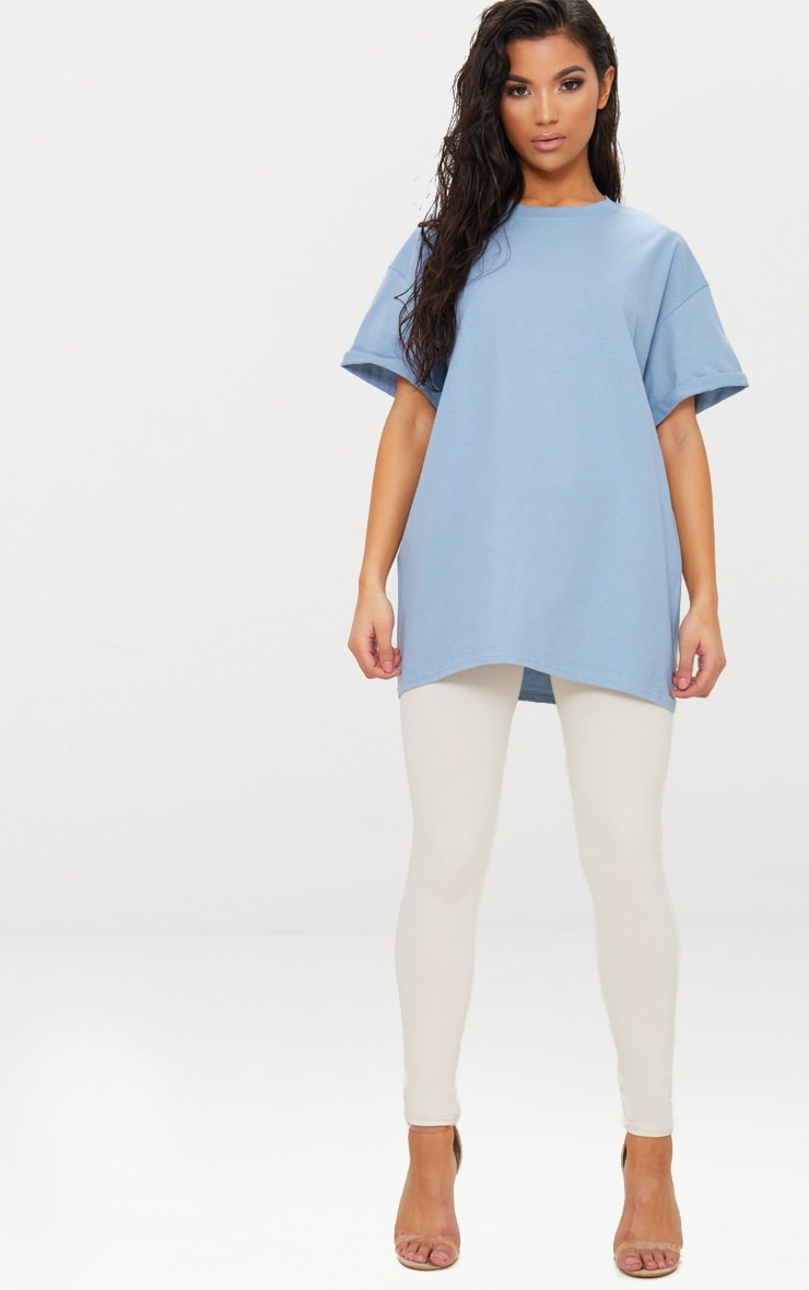 Dusky Blue Oversized Boyfriend T Shirt 4