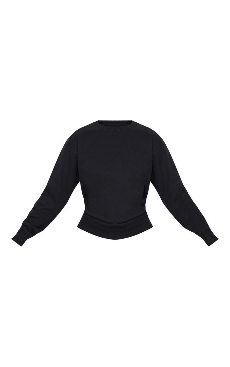 PRETTYLITTLETHING Black Badge Detail Sport Sweater 3