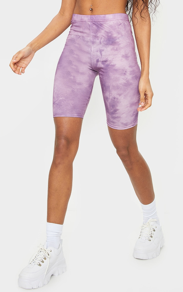 Lilac Tie Dye Bike Shorts 2