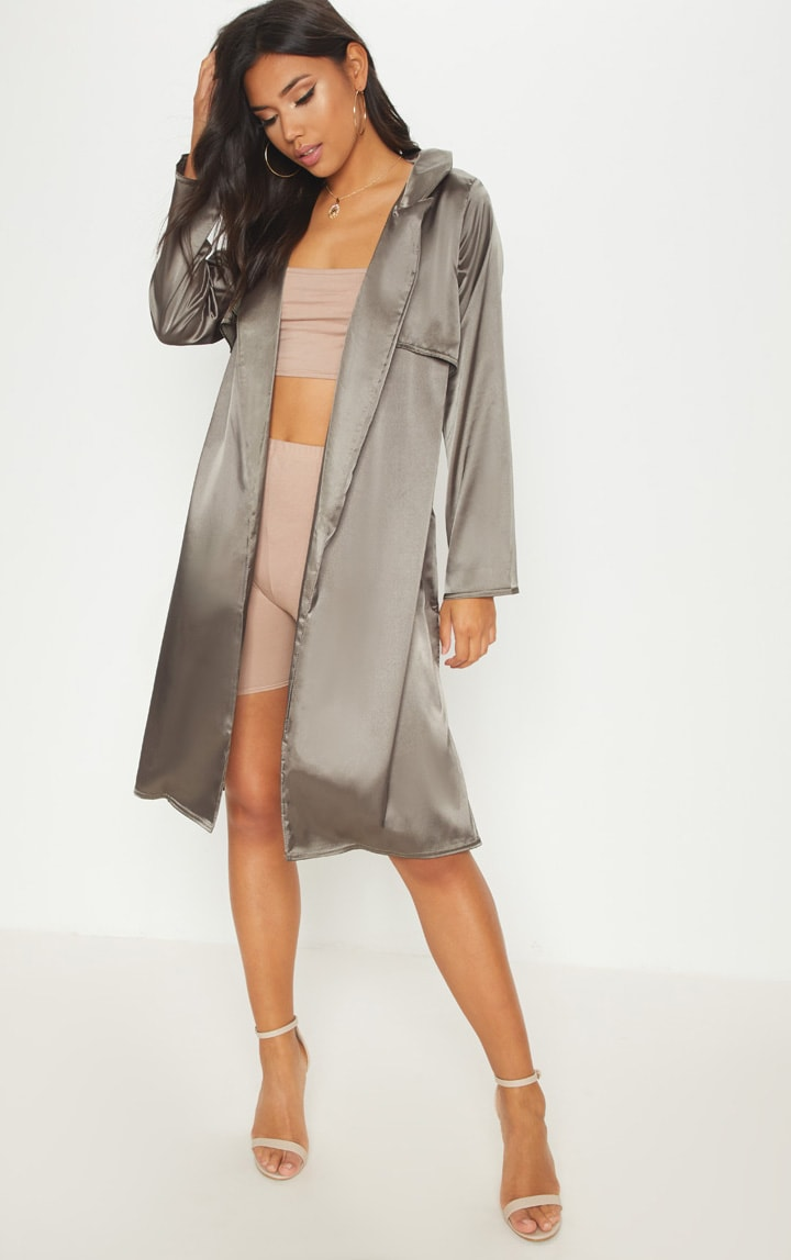 Pink Satin Duster
