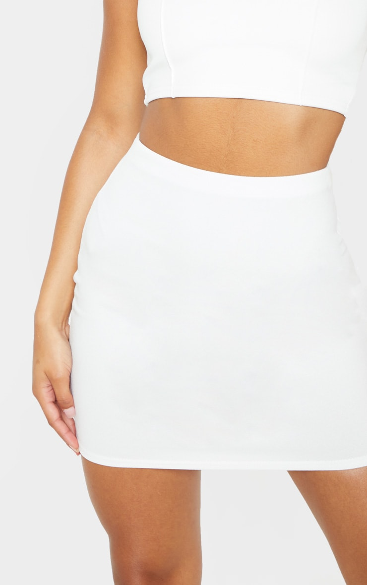 White Mini Suit Skirt 6