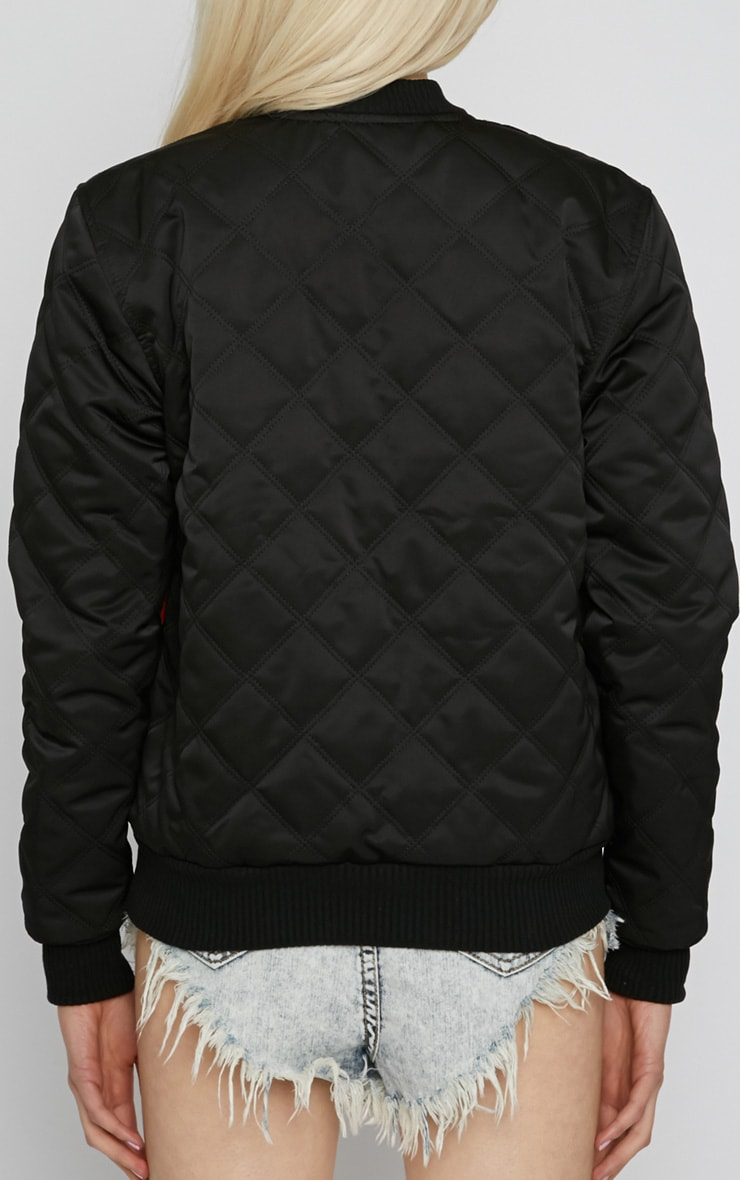 Carissa Black Quilted 'Flying Service' Jacket 2