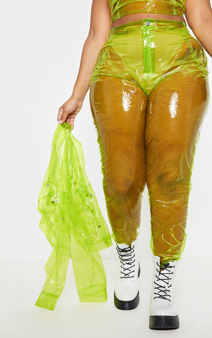 Plus Lime Transparent Straight Leg Pants 2