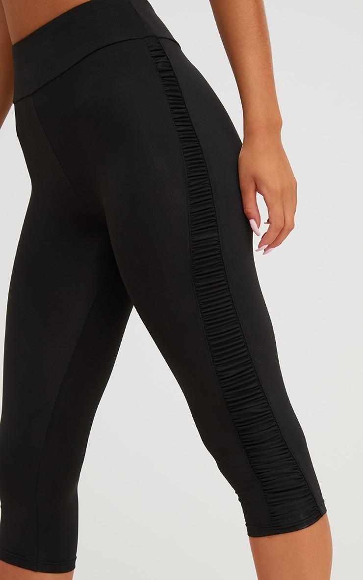 Black Ruched 3/4 Leggings 5
