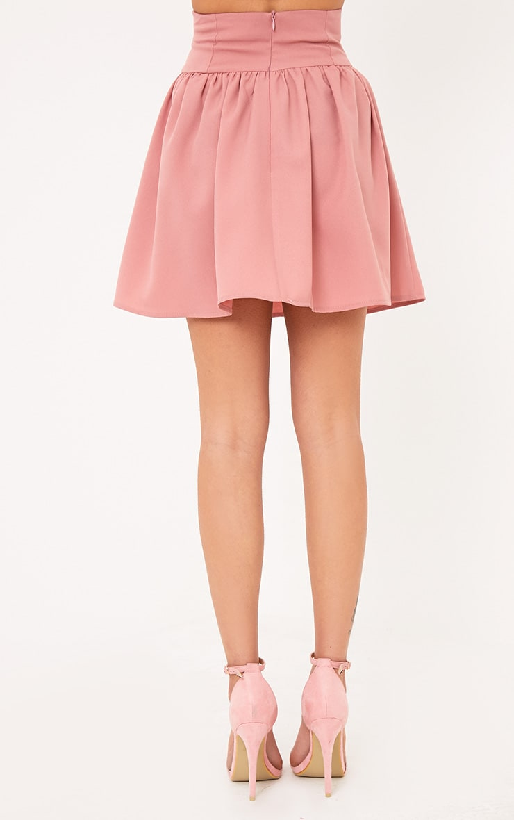 Linda Dusty Pink Corset Floaty Skirt 4