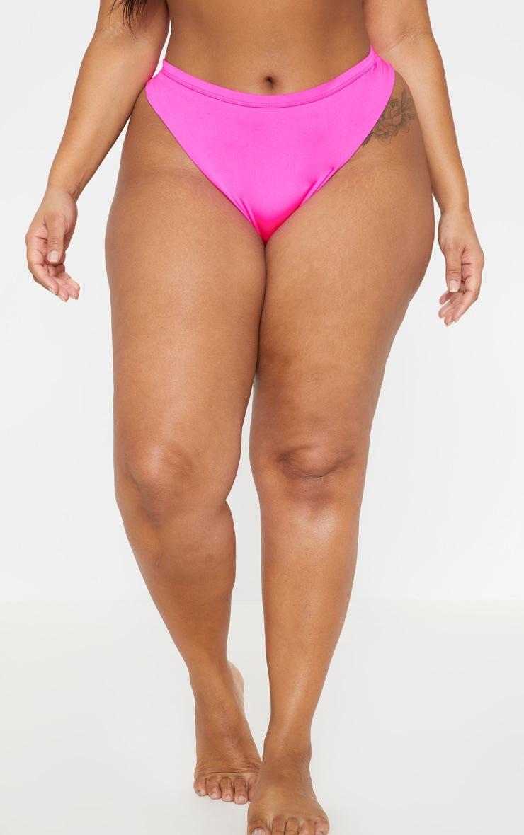 Plus Neon Pink Bikini Bottom 2