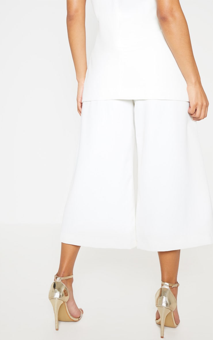 White High Waisted Culottes 5