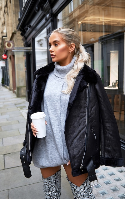 hot-selling authentic best selection of 2019 latest trends Black Oversized PU Aviator