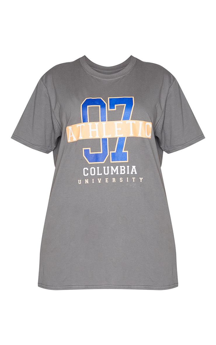 T-shirt gris anthracite à slogan Athletic 97 5