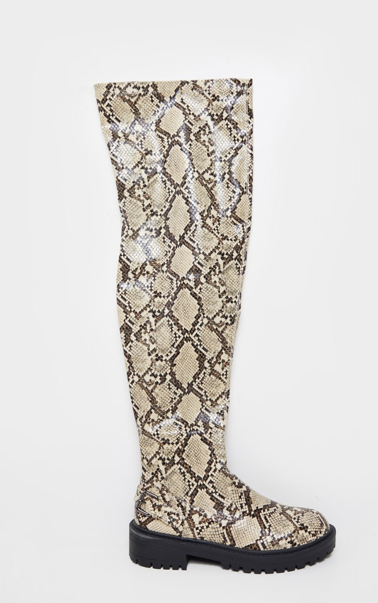Snake Cleated Flat Over The Knee Boot 3